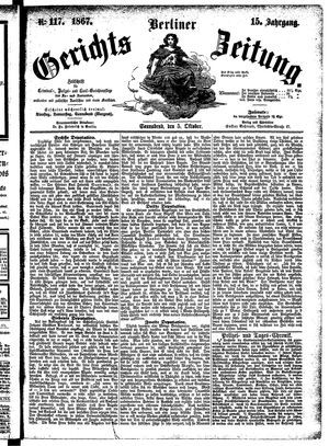 Berliner Gerichts-Zeitung vom 05.10.1867
