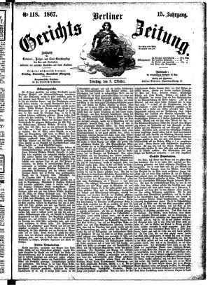 Berliner Gerichts-Zeitung vom 08.10.1867
