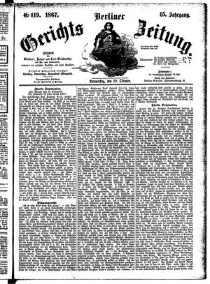 Berliner Gerichts-Zeitung vom 10.10.1867