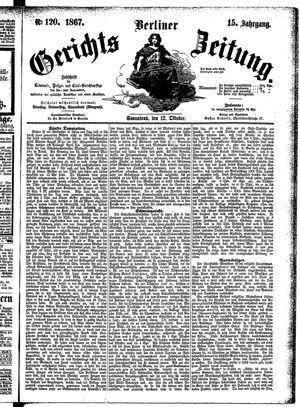 Berliner Gerichts-Zeitung vom 12.10.1867