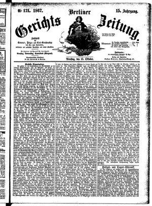 Berliner Gerichts-Zeitung vom 15.10.1867