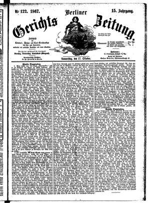 Berliner Gerichts-Zeitung vom 17.10.1867
