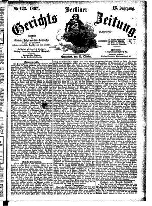 Berliner Gerichts-Zeitung vom 19.10.1867