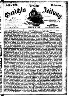 Berliner Gerichts-Zeitung vom 22.10.1867