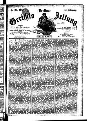 Berliner Gerichts-Zeitung vom 29.10.1867