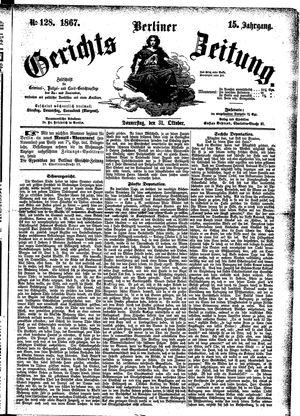 Berliner Gerichts-Zeitung vom 31.10.1867