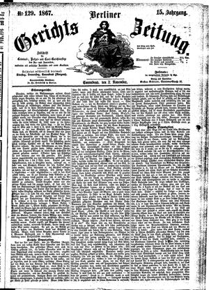 Berliner Gerichts-Zeitung vom 02.11.1867
