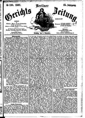 Berliner Gerichts-Zeitung vom 05.11.1867