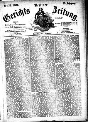 Berliner Gerichts-Zeitung vom 07.11.1867