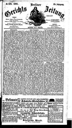 Berliner Gerichts-Zeitung vom 09.11.1867