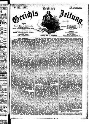 Berliner Gerichts-Zeitung vom 12.11.1867