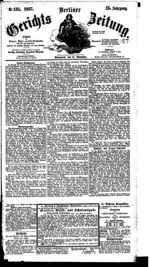 Berliner Gerichts-Zeitung vom 16.11.1867