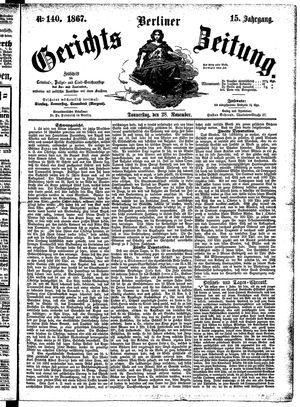 Berliner Gerichts-Zeitung vom 28.11.1867
