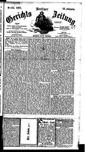 Berliner Gerichts-Zeitung vom 30.11.1867