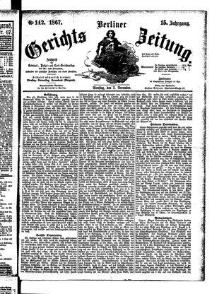 Berliner Gerichts-Zeitung vom 03.12.1867