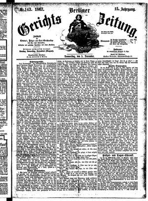Berliner Gerichts-Zeitung vom 05.12.1867