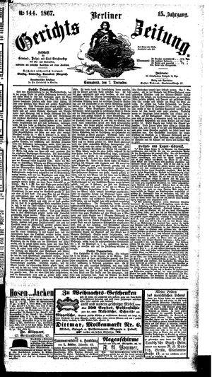 Berliner Gerichts-Zeitung vom 07.12.1867