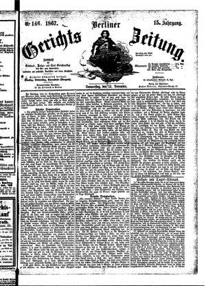 Berliner Gerichts-Zeitung vom 12.12.1867