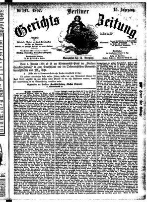 Berliner Gerichts-Zeitung vom 14.12.1867