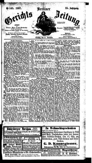 Berliner Gerichts-Zeitung on Dec 17, 1867