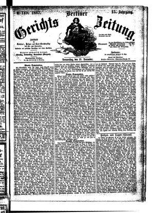 Berliner Gerichts-Zeitung vom 19.12.1867
