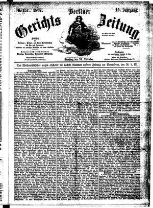 Berliner Gerichts-Zeitung vom 24.12.1867