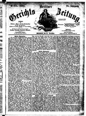 Berliner Gerichts-Zeitung vom 28.12.1867