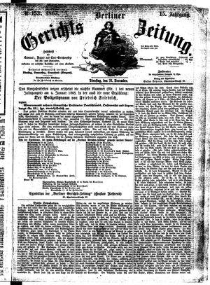 Berliner Gerichts-Zeitung vom 31.12.1867