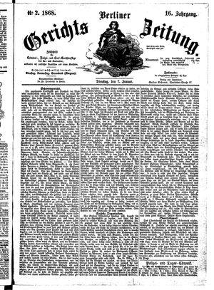 Berliner Gerichts-Zeitung vom 07.01.1868