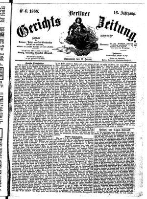 Berliner Gerichts-Zeitung vom 11.01.1868