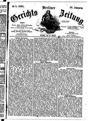 Berliner Gerichts-Zeitung on Jan 14, 1868