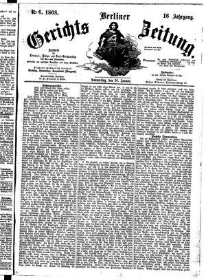 Berliner Gerichts-Zeitung vom 16.01.1868