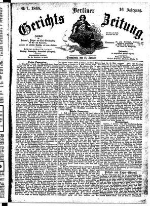 Berliner Gerichts-Zeitung vom 18.01.1868