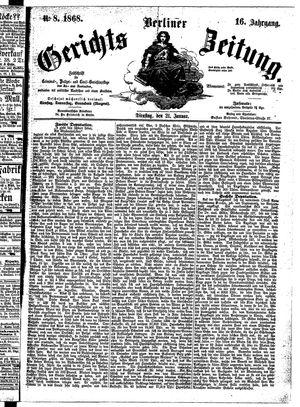 Berliner Gerichts-Zeitung vom 21.01.1868