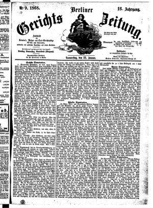 Berliner Gerichts-Zeitung vom 23.01.1868