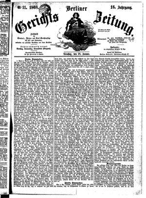Berliner Gerichts-Zeitung vom 28.01.1868
