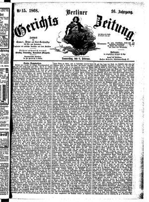 Berliner Gerichts-Zeitung on Feb 6, 1868