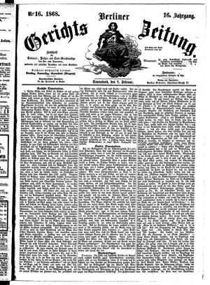 Berliner Gerichts-Zeitung vom 08.02.1868
