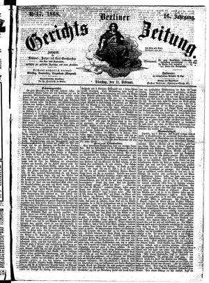 Berliner Gerichts-Zeitung vom 11.02.1868