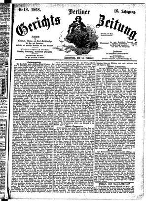 Berliner Gerichts-Zeitung vom 13.02.1868