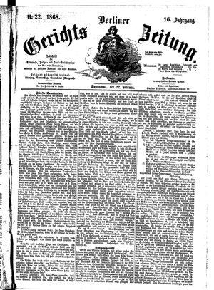 Berliner Gerichts-Zeitung vom 22.02.1868