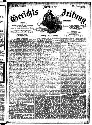 Berliner Gerichts-Zeitung vom 25.02.1868
