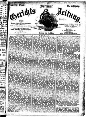 Berliner Gerichts-Zeitung vom 10.03.1868