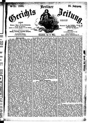 Berliner Gerichts-Zeitung vom 14.03.1868