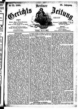 Berliner Gerichts-Zeitung vom 17.03.1868