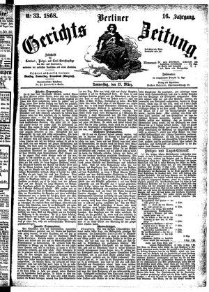 Berliner Gerichts-Zeitung vom 19.03.1868