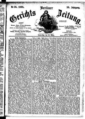 Berliner Gerichts-Zeitung vom 26.03.1868