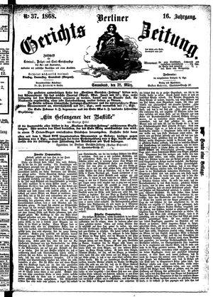 Berliner Gerichts-Zeitung on Mar 28, 1868