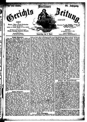 Berliner Gerichts-Zeitung vom 02.04.1868