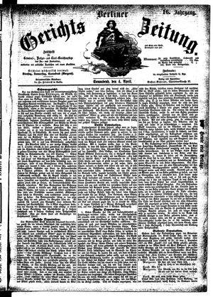 Berliner Gerichts-Zeitung vom 04.04.1868